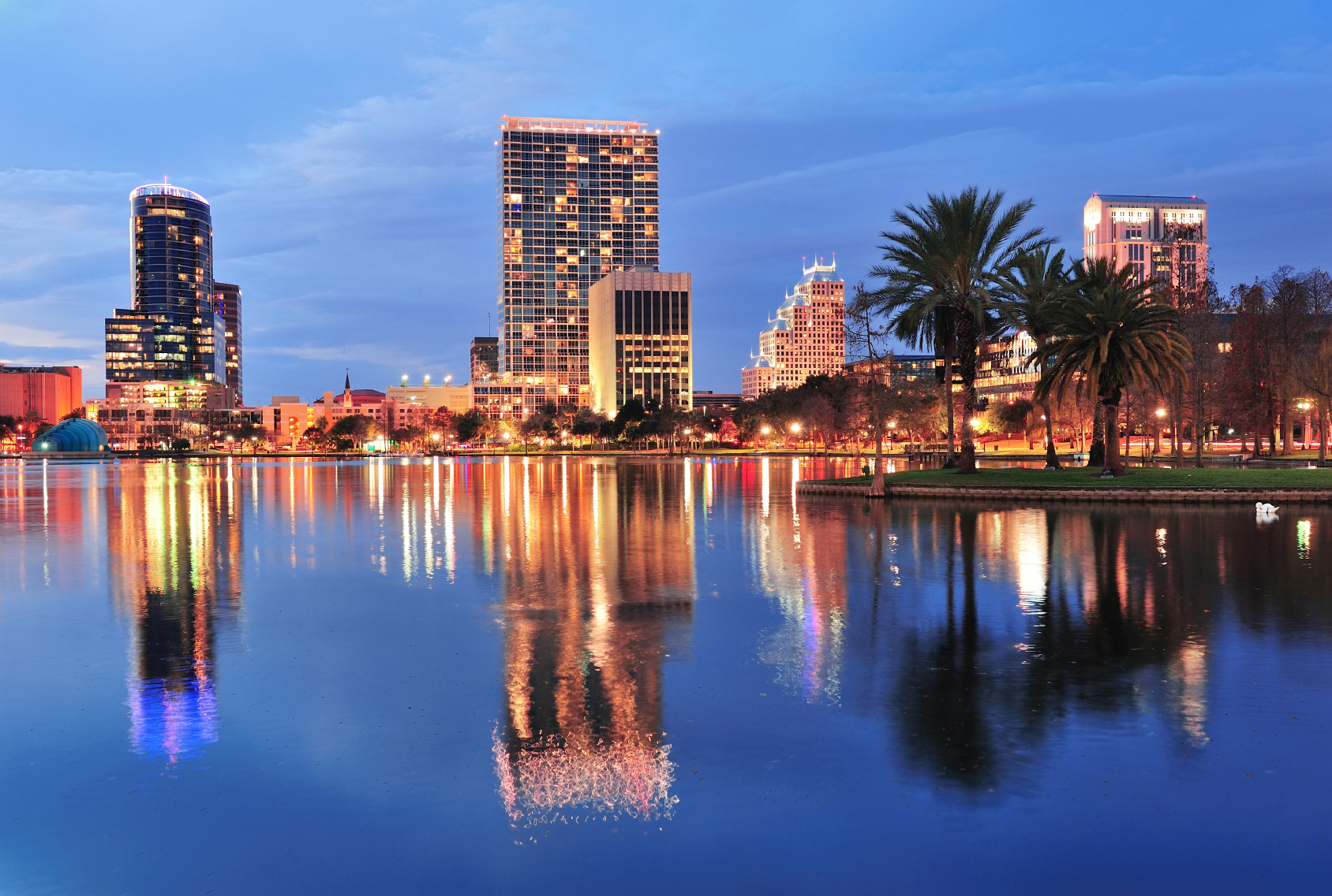 Orlando downtown dusk