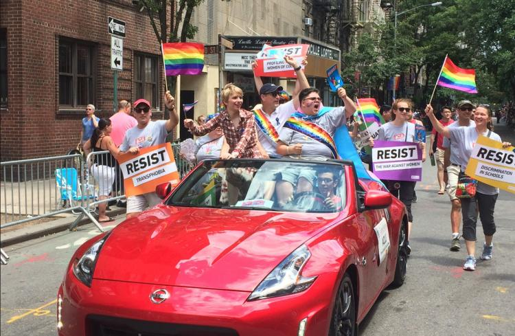 Chelsea Manning Marches at NYC Pride